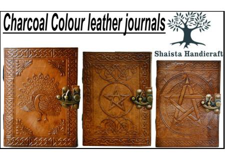 CHARCOAL COLOR LEATHER JOURNAL