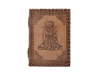 Handmade New Design Goat Leather Journal Antique Buddha Notebook Perfect Selection Of Leather Journal Wholesaler