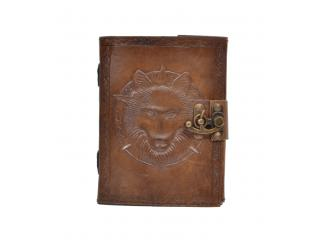 New Vintage Handmade Howl Wolf Embossed Vintages Blank Paper Notebook Leather Journal Diary
