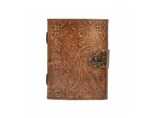 New Vintage Handmade Wolf Tree Embossed Vintages Blank Paper Notebook Leather Journal Diary