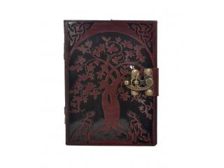 Handmade Leather Journal New Design Beautiful Cut Work Leather Journal Wolf Tree Style Cut Journal