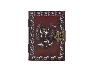 Handmade Leather Journal New Antique Cut Work Design Beautiful Double dragon Journal Notebook 120 Pages Sketchbook