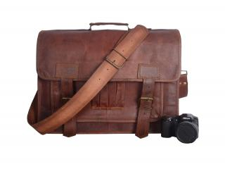 Leather Messenger Real Goat Briefcase bag