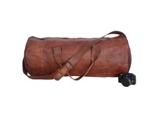 leather duffle travelling bag