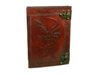 Celtic Leather Fairy Moon Book of Shadows Latch Spells Journal Pentacle Wicca Book Classic design india made