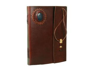 Celtic Vintage Handmade Genuine leather School, book, small notepad Journals Album gift with Stone And Pen Closer