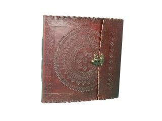 Notebook Valentines Day Gifts Leather Bound Diary Journal Personal Notebook Hand Embossed with a Lock 120 Unlined Eco-friendly Pages