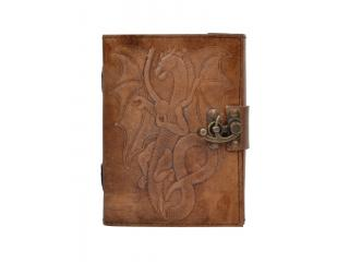 New Handmade Leather Journal Wholesaler Embossed Dragon Diary Handbook