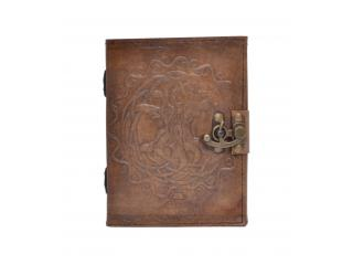 Leather Journal New Genuine Handmade Round Steampunk Tree Of Life Journal Notebook 120 Pages