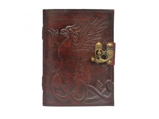 New EMBOSSED Handmade Leather Journal Antique diary leather journal notebook