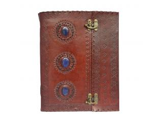 Medieval Renaissance 3 Stone Sketchbooks Leather Handmade Notebook Diary Journal