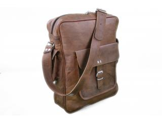 Leather Bag Laptop Bag Messenger Bag Office Bag Real Vintage New school Bag