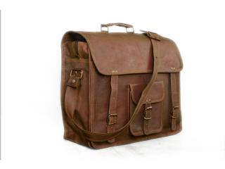Indian Goat Leather Laptop Bag