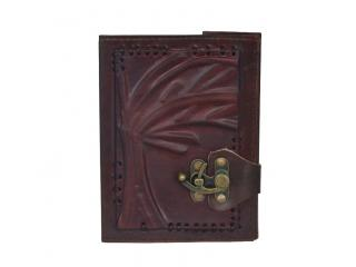 Antique Brown Leather Journal Diary Handmade with lock closure Coptic Bound Tree Of Life Book