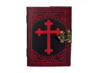 leather journal Celtic Cross Red With Black Shadow Dairy Note Book