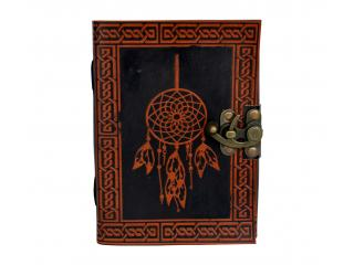 Beautiful Leather Dairy Celtic Handmade Leather Journal Dream Catcher Leather Embossed Journal Dairy