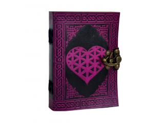 Celtic Heart Handmade Book Of Shadows Wicca Leather Bound LOVE Journal Beautiful Gift For Valentine Day Or Christmas  Gift