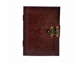 Celtic Heart Handmade Book Of Shadows Wicca Leather Bound LOVE Journal Pagan Vintage Look Dairy
