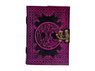 Handmade Leather Celtic TREE of LIFE  Pagan Wicca Journal Diary Book of Shadows Wholesaler India