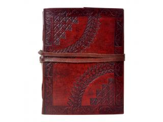 Leather journal Handmade new embossed sketchbook  & diary