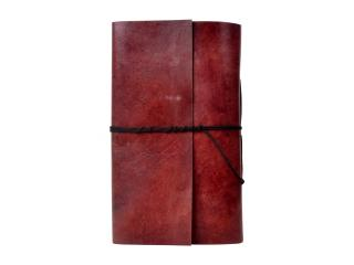 Vintage handmade Leather Plain Note Book Personal Organiser Day Planner Travel Book