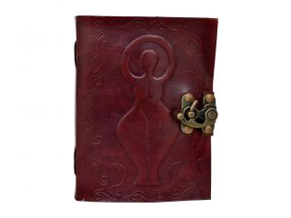 Goddess Leather Embossed Journal Blank Book Brown Leather Journal Writing Dairy