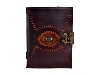 Genuine Handmade Leather Real Look Eye God Eye Journal Blank Book Brown Color Leather Note Book
