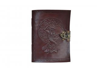 Handmade new design cotton paper celtic leather journal diary and writing notebook