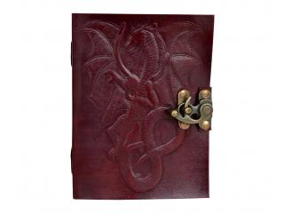 MAGIC DRAGON Handmade Leather Notebook Journal Diary Pages of Cartridge Paper