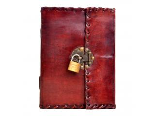 Handmade Genuine Antique Leather Journal Simple Diary With Key Lock Journal