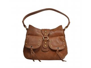 Vintage Brown Buffalo Hunter Leather Shoulder Women Antique Style Purse Bag