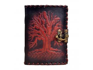 Handmade Genuine Celtic Tree Of Life Leather Journal Antique Diary