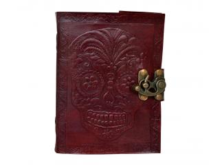 Day Of Dead Handmade Leather Journal Note Book Blank Dairy Writing Journal