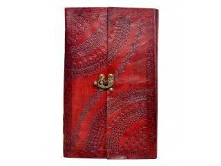 Vintage Handmade Embossed Leather Journal  Notebook  Organizer Day Planner