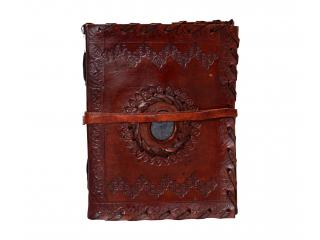 Vintage Trade Handmade Eco Friendly Large Stitched and Stoned Leather Journal Diary