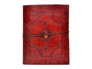 New Design Handmade Embossed Leather Journal Antique Single Stone Leather Journal Diary