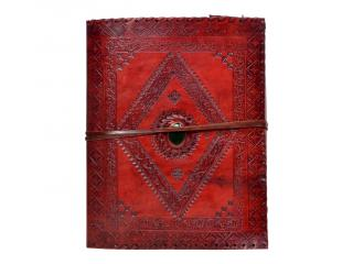 Vintage Handmade New Blank Cotton Paper Leather Journal Onyx Stone Handmade Embossed Diary