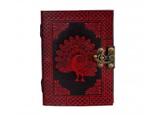 Celtic Peacock Handmade Leather Journal Plain Leather Dairy Note Book