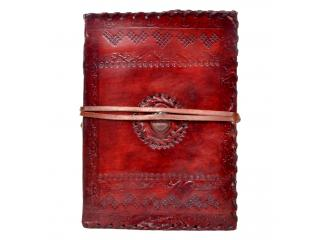 Handmade Embossed Leather Journal Diary