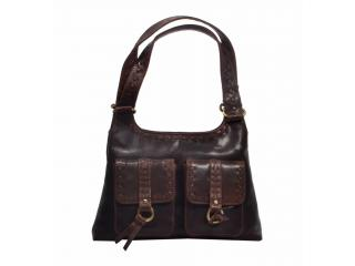 Women Genuine Buffalo Leather Handbag Ladies Tote 11 Inches Hunter Bag
