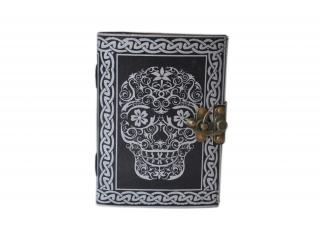 Handmade day of dead notebook leather journal diary