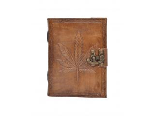 Handmade Charcoal Leaf Embossed Leather note book journal handmade book Embossed Note Book Diary