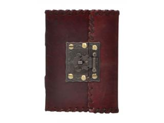 Direct Factory Prize New Style Leather Journal Handmade Notebook With New Brass Lock
