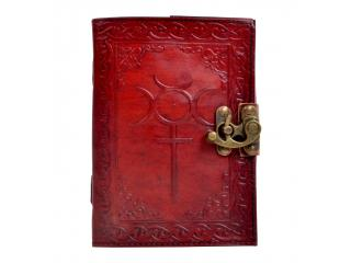 Handmade celtic cross leather journal diary and notebook
