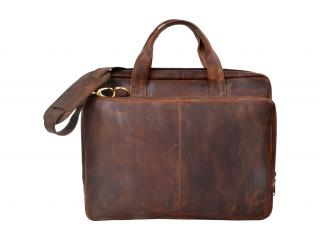 New  Mens Crazy Horse Leather Vintage shoulder Messenger bag Briefcase laptop bags