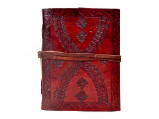 Handmade embossed leather journal diary & notebook
