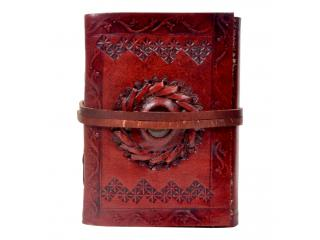 New handmade medieval stone paper leather journal diary sketchbook & leather notebook