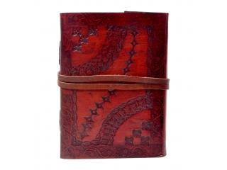 New design embossed leather journal diary