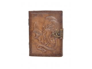 Handmade Vintage New Antique Design Dragon Embossed Leather Journal Notebook Charcoal Color Journals 7x5 Inches Notebook