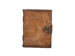Vintage New Antique Design Handmade Unicorn Embossed Leather Journal Notebook Charcoal Color Journals 7x5 Inches Notebook